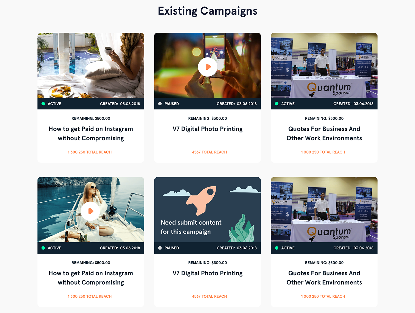 UX design for existing campaigns