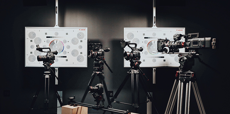Cameras in a production studio for our new live streaming application