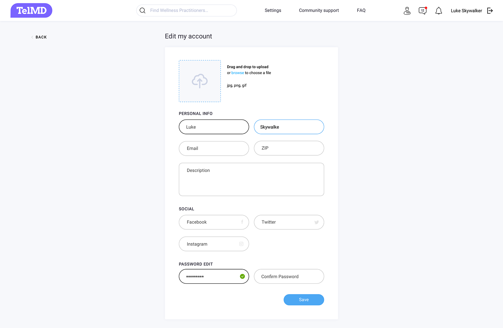 User account management design for custom web app